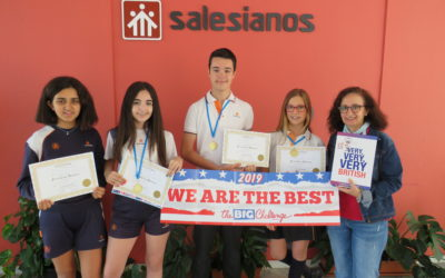 Ganadores del concurso de Inglés de la edición de 2019, del Big Challenge.