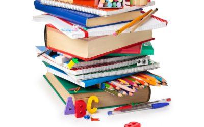 Listado de material de Infantil/Primaria y libros de texto