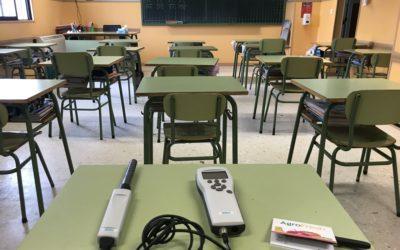 Estudio de medición de CO2 en las aulas
